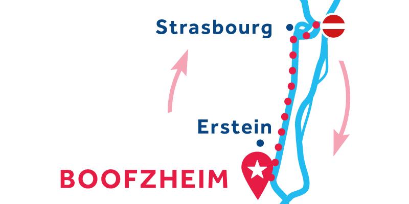 Boofzheim ANDATA E RITORNO via Strasburgo