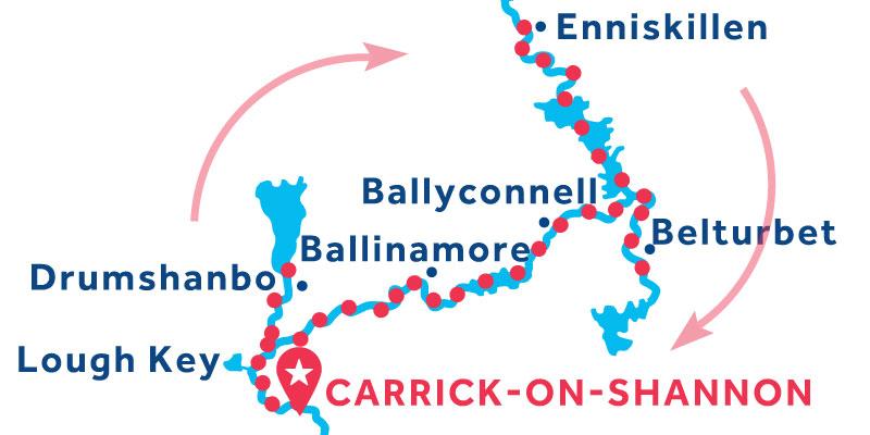 Carrick-on-Shannon ANDATA E RITORNO via Enniskillen