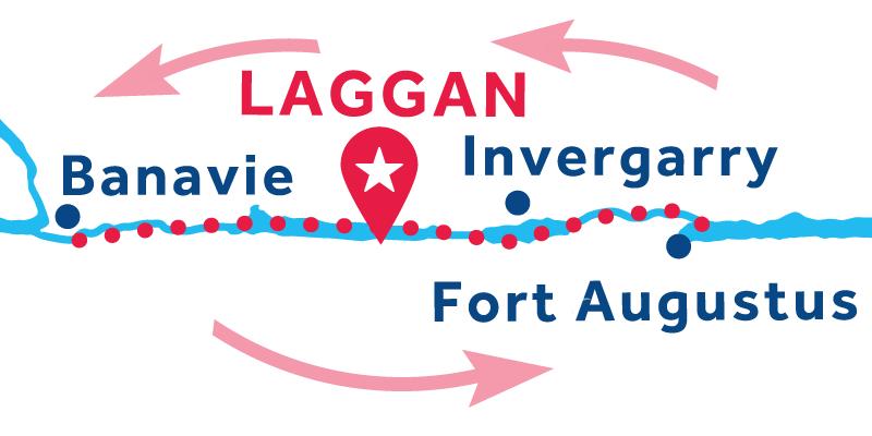 Laggan ANDATA E RITORNO via Banavie e Fort Augustus