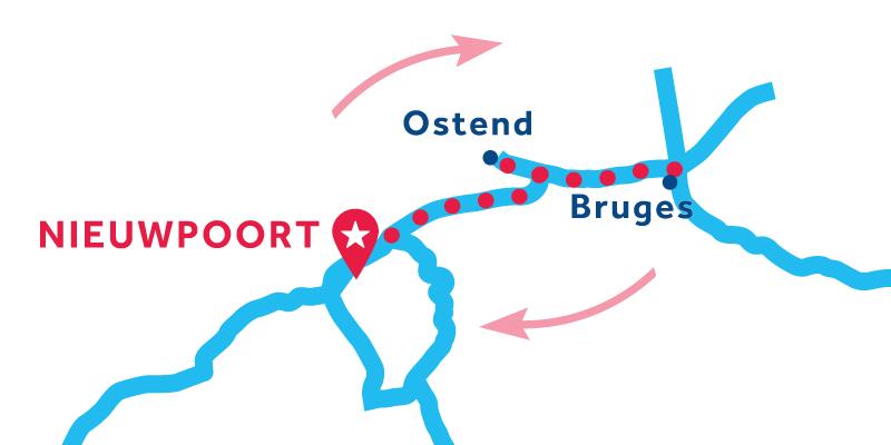 Nieuwpoort ANDATA E RITORNO via Bruges