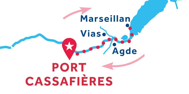 Port Cassafières ANDATA E RITORNO via Marseillan