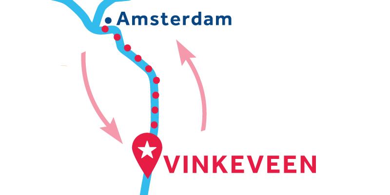 Vinkeveen ANDATA E RITORNO via Amsterdam e Muiden