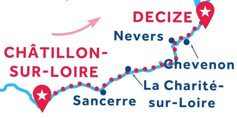 Da Châtillon-sur-Loire a Decize via Nevers