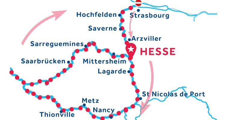 Hesse ANDATA E RITORNO via Saarbrücken e Metz (patente obbligatoria)