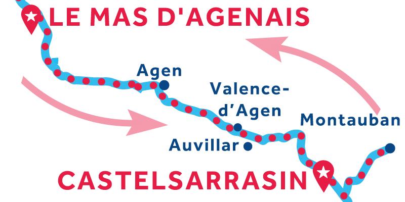 Le Mas d'Agenais ANDATAE RITORNO via Montauban