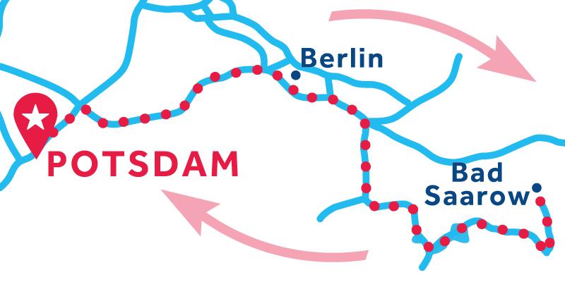 Potsdam ANDATA E RITORNO via Bad Sarrow (patente obbligatoria)