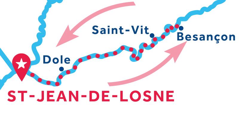Saint-Jean-de-Losne ANDATA E RITORNO via Besançon