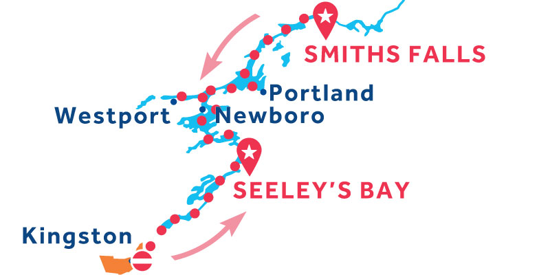 Seeley's Bay ANDATA E RITORNO via Westport e Kingston