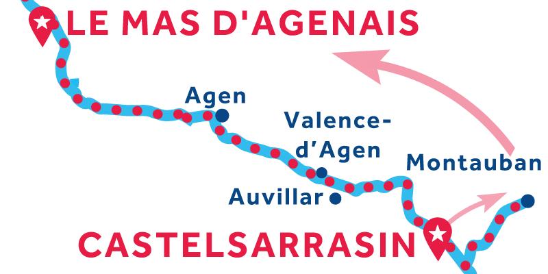 Da Castelsarrasin a Le Mas d'Agenais via Montauban