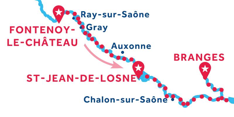 Da Fontenoy-le-Château a Branges