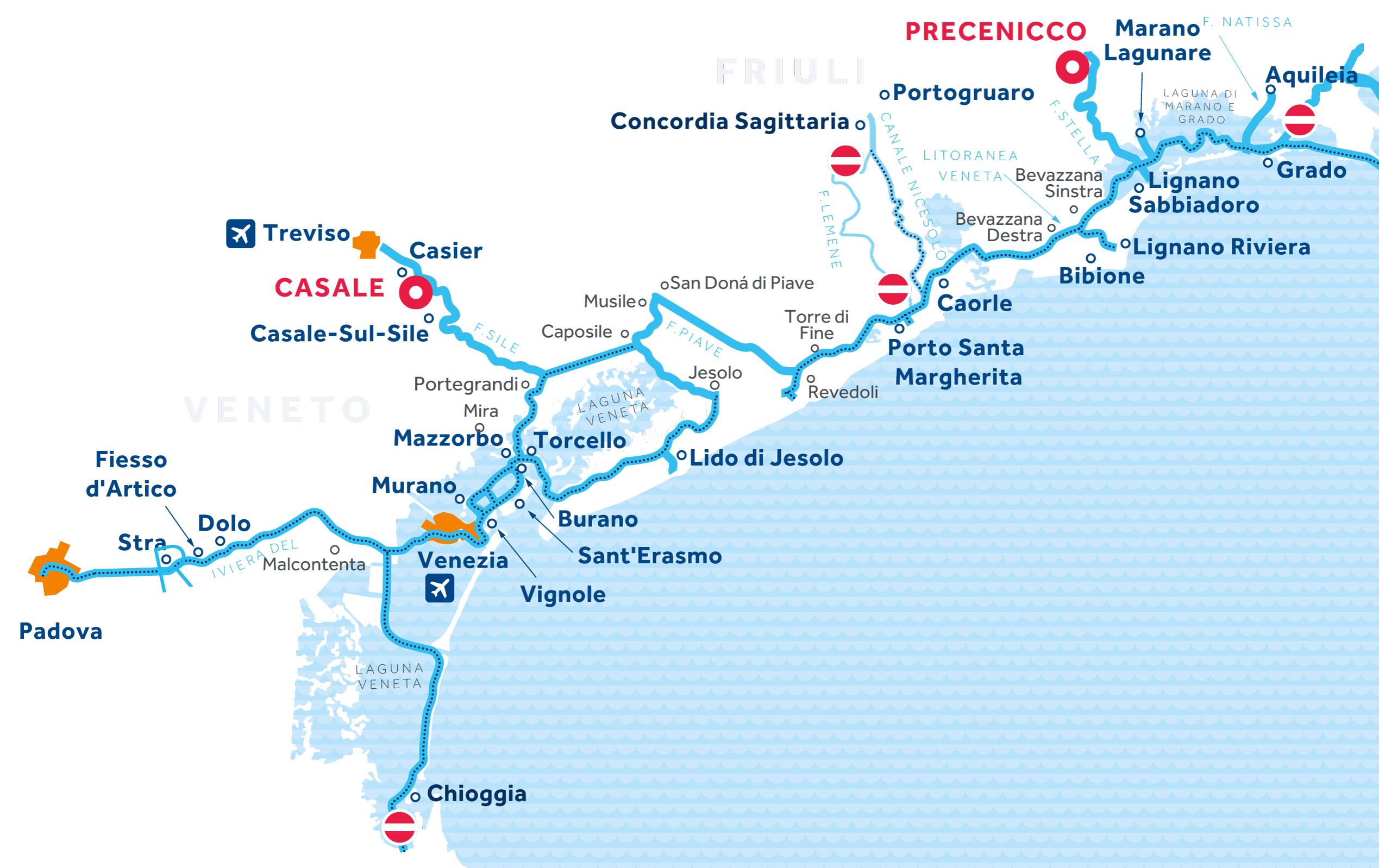 Mappa: Venezia e Friuli