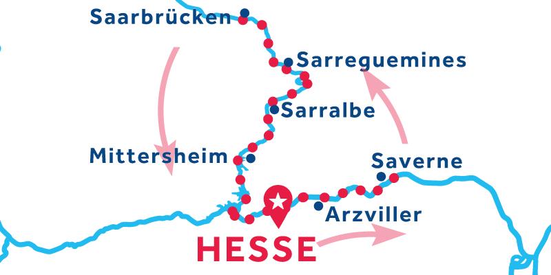 Hesse ANDATA E RITORNO via Savernee Saarbrücken