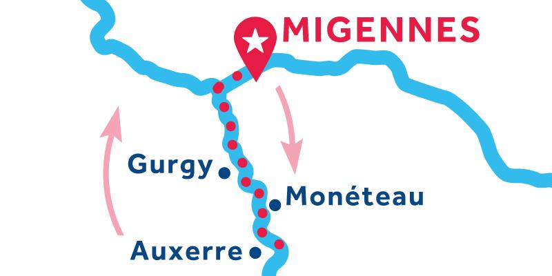 Migennes ANDATA E RITORNO via Auxerre