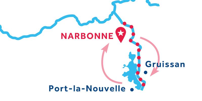 Narbonne andata et ritorno via Port la Nouvelle