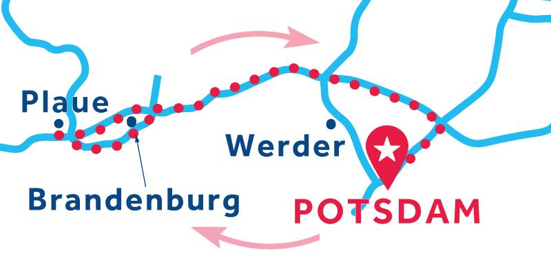 Potsdam ANDATA E RITORNO via Plaue (patente obbligatoria)