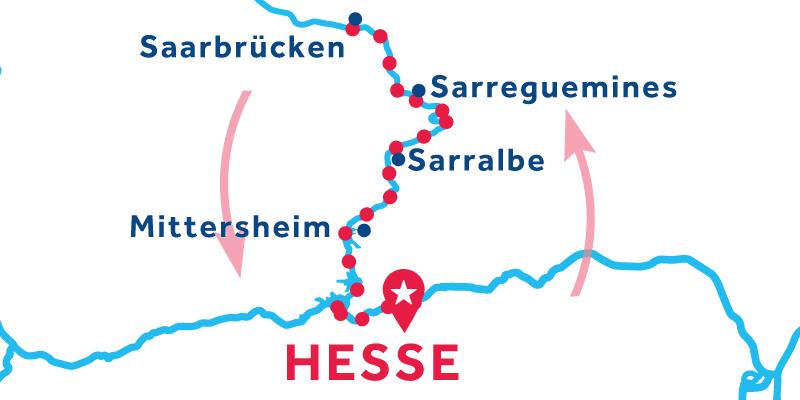 Hesse ANDATA E RITORNO via Saarbrücken