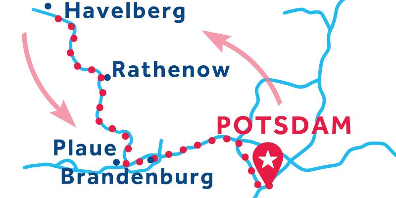 Potsdam ANDATA E RITORNO via Rathenow (patente obbligatoria)
