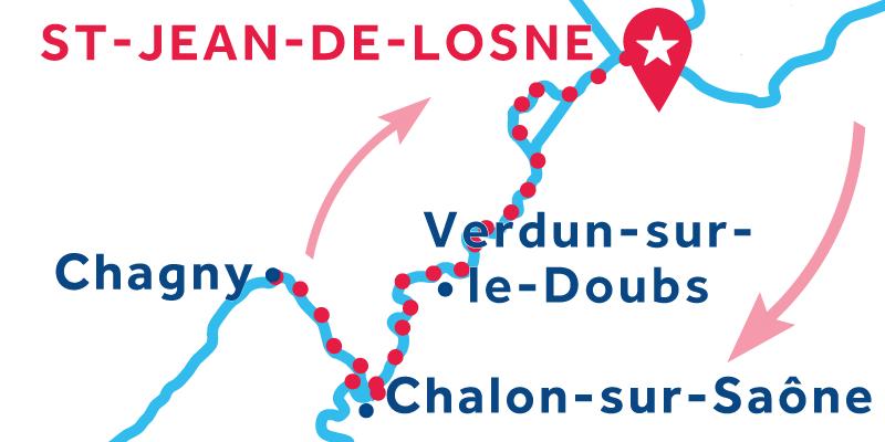 Saint-Jean-de-Losne ANDATA E RITORNO via Chagny