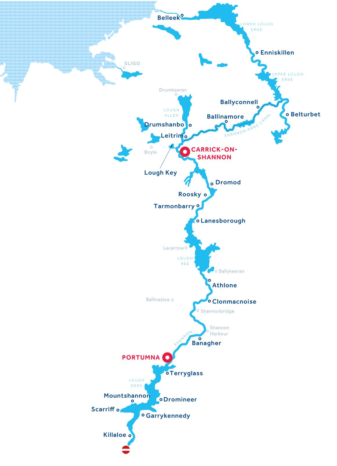 Mappa: Shannon ed Erne