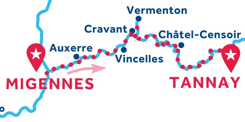 Da Migennes a Tannay via Vermenton