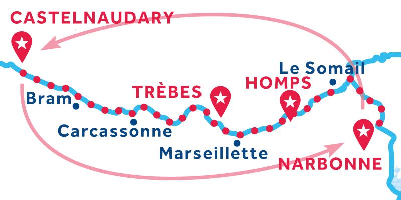 Narbonne andata et ritorno via Carcassonne & Béziers