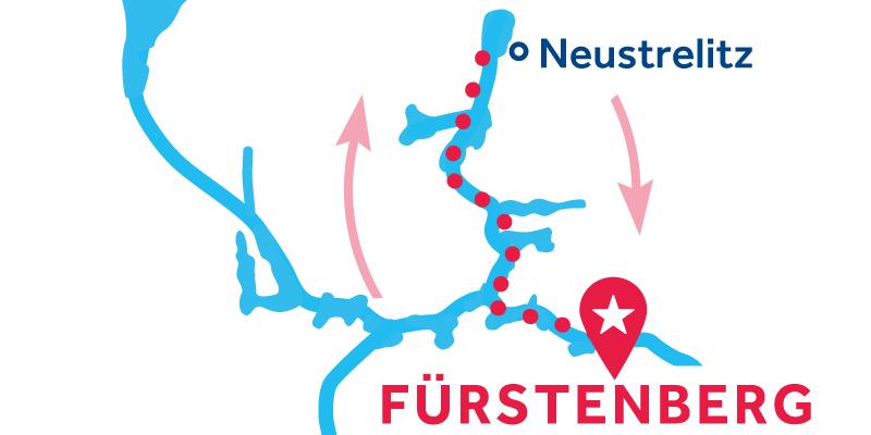 Fürstenberg ANDATA E RITORNO via Neustrelitz