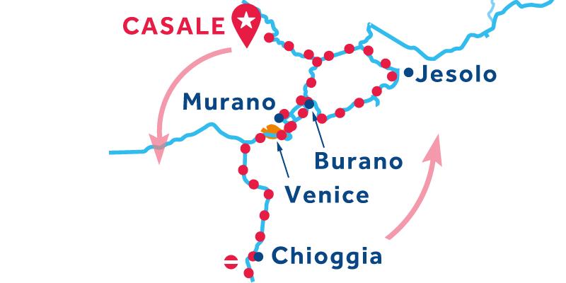 Casale ANDATA E RITORNO via Venezia, Chioggia e Lido di Jesolo