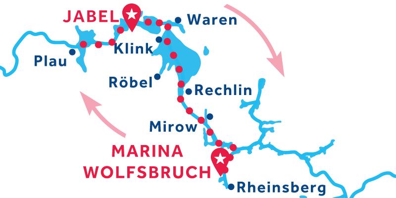Jabel ANDATA E RITORNO via Rheinsberg