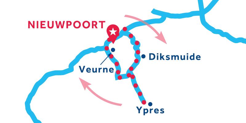 Nieuwpoort ANDATA E RITORNO via Ypres e Veurne