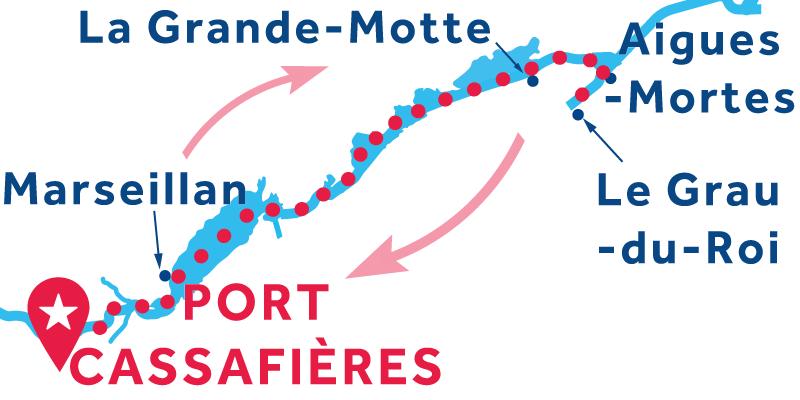Port Cassafières ANDATA E RITORNO via Aigues-Mortes
