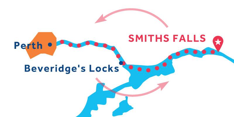 Smiths Falls ANDATA E RITORNO via Perth