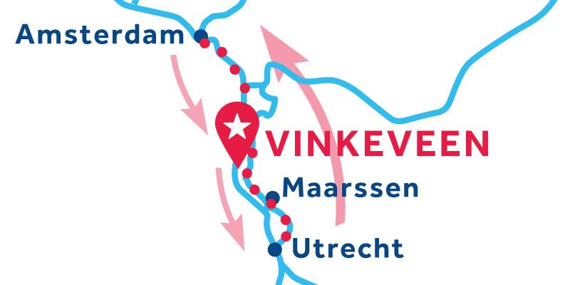 Vinkeveen ANDATA E RITORNO via Amsterdame Utrecht