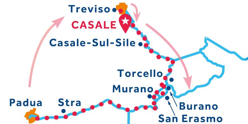 Casale ANDATA E RITORNO via Venezia e Stra (Padova)