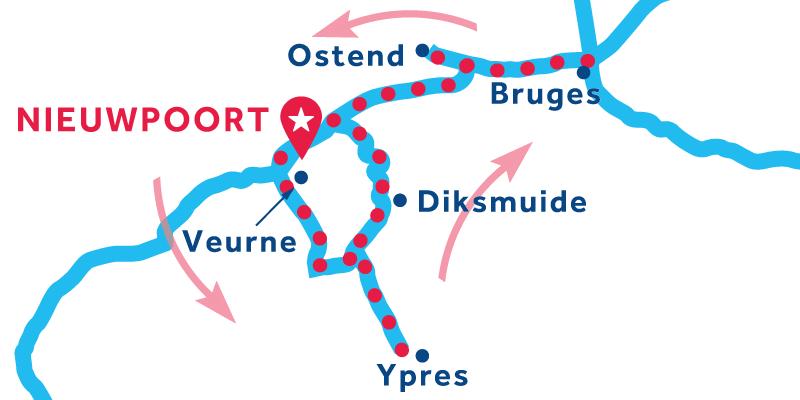 Nieuwpoort ANDATA E RITORNO via Ypres e Bruges