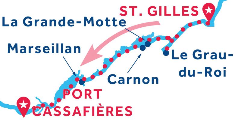 Da Saint-Gilles a Port Cassafières
