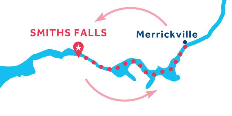 Smiths Falls ANDATA E RITORNO via Merrickville