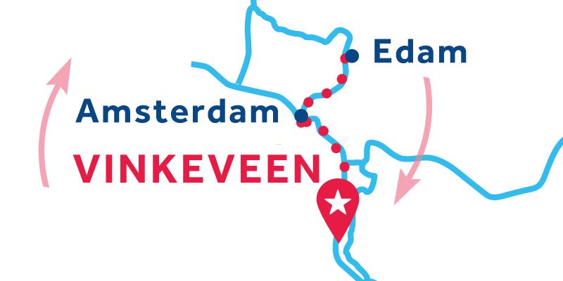 Vinkeveen ANDATA E RITORNO via Amsterdam, Edam e Alkmaar
