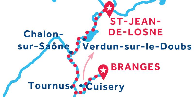 Da Branges a Saint-Jean-de-Losne