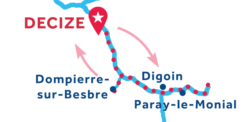 Decize ANDATA E RITORNO via Paray-le-Monial