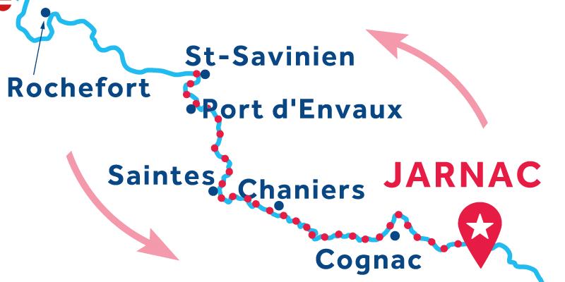 Jarnac ANDATA E RITORNO via Saint-Savinien