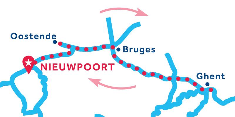 Nieuwpoort ANDATA E RITORNO via Bruges e Gand
