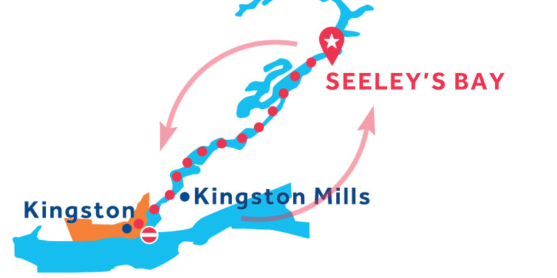 Seeley's Bay ANDATA E RITORNO via Kingston