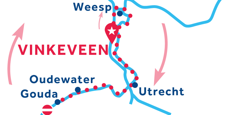 Vinkeveen ANDATA E RITORNO via Utrecht e Gouda