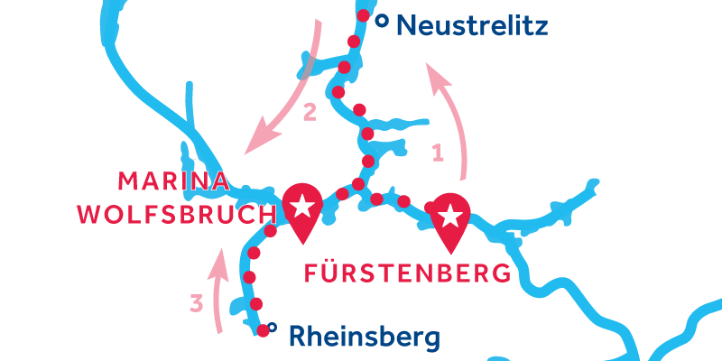 Fürstenberg ANDATA E RITORNO via Neustrelitz & Rheinsberg