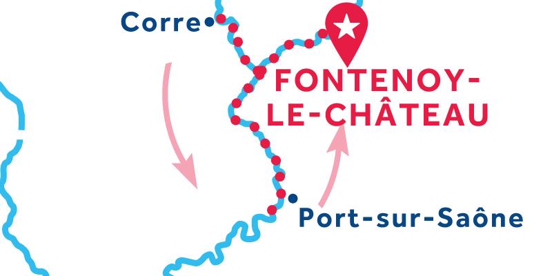 Fontenoy-le-Château ANDATA E RITORNO via Ormoy