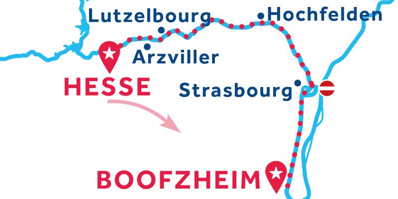 Da Hesse a Boofzheim via Strasburgo