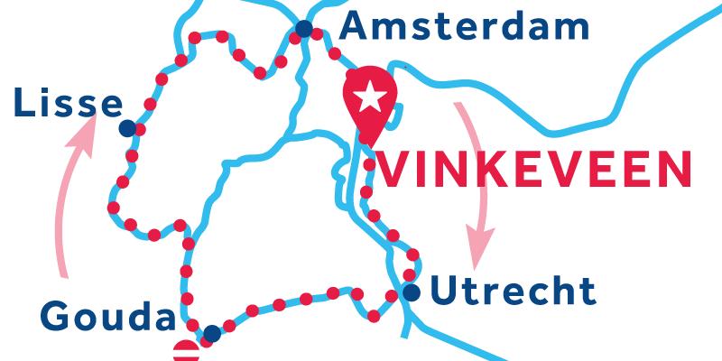 Vinkeveen ANDATA E RITORNO via Utrecht, Lissee Amsterdam