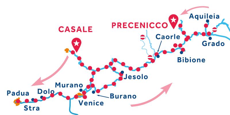 Da Casale a Precenicco via Venezia, Riviera del Brenta e Chioggia
