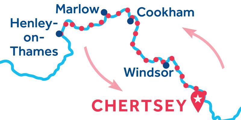 Chertsey ANDATA E RITORNO via Henley-upon-Thames