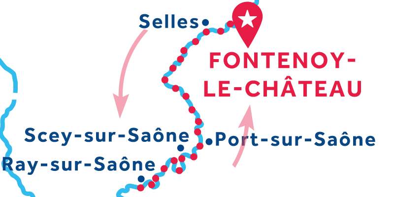 Fontenoy-le-Château ANDATA E RITORNO via Ray-sur-Saône